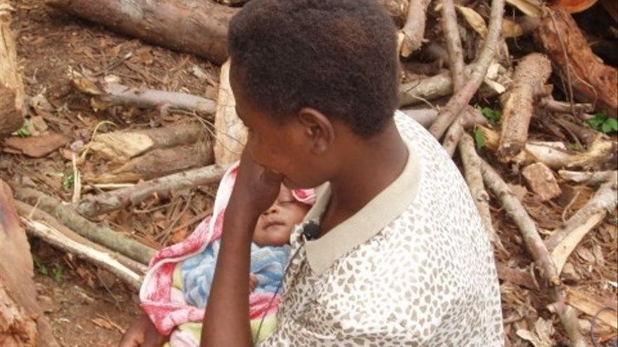 Ex niña soldado en la República Democrática del Congo  © Amnistía Internacional