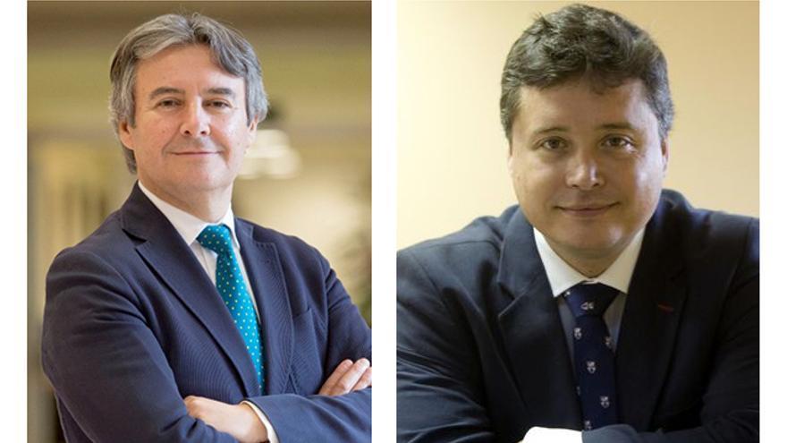 Rubén Moreno y Luis Santamaría, presidentes de las gestoras en la provincia y la ciudad de Valencia.