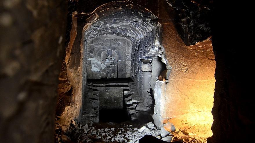 En la imagen, la tumba encontrada por la Misión Canario-Toscana. Foto: Min Proyej/PAOLO BONDIELLI