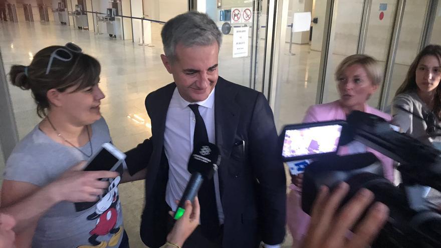 Ricardo Costa en la Ciudad de la Justicia de Valencia