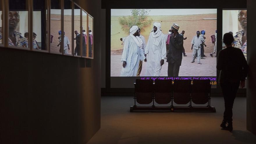 Uno de los vídeos que se pueden ver en la exposición