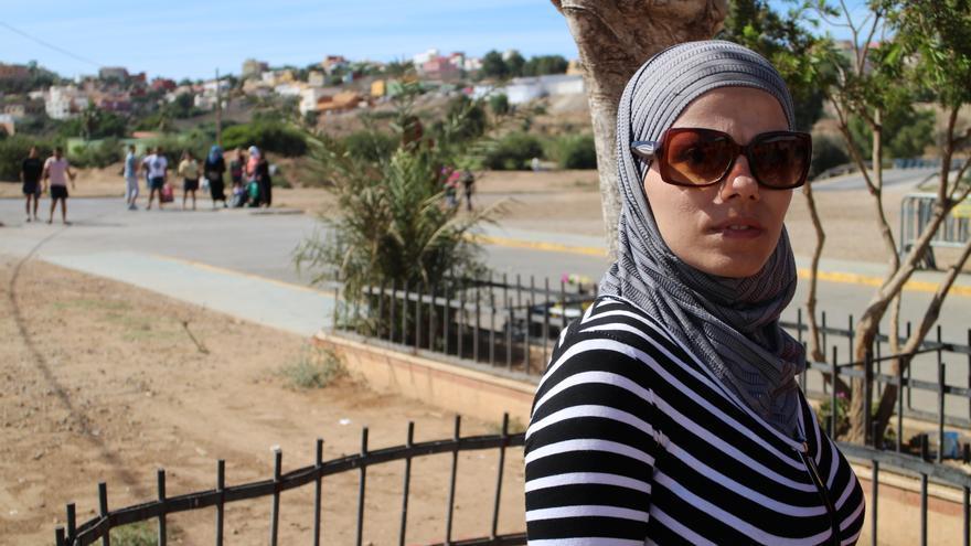 Alasha espera en Melilla la llegada de su hijo de siete años y de su marido, bloqueados en Marruecos. | Gabriela Sánchez.
