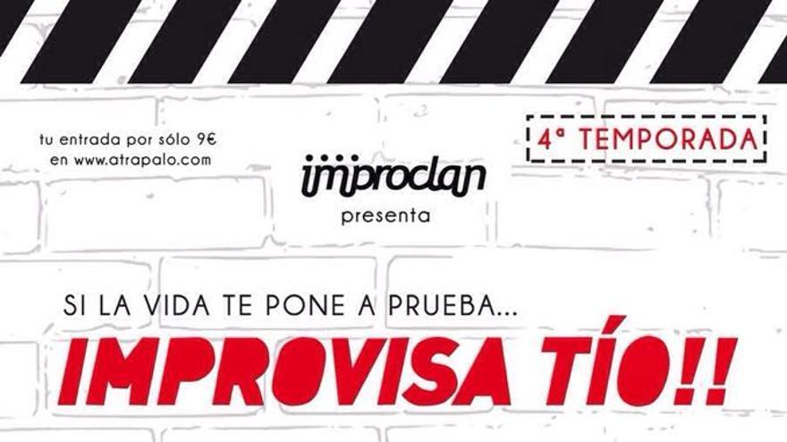 Cartel del espectáculo '¡Improvisa tío!'