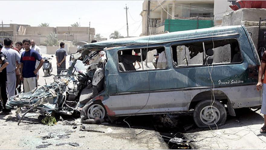 Imagen de la furgoneta atacada en el vídeo 'Collateral Murder'.