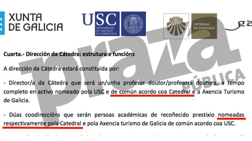 Convenio entre Xunta, Universidad de Santiago y Catedral que deja en manos de la Iglesia el nombramiento o veto de cargos académicos
