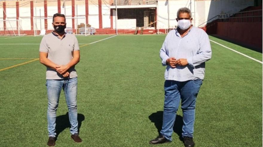 El Ayuntamiento de Tazacorte realiza obras de mejoras  en el campo de fútbol municipal