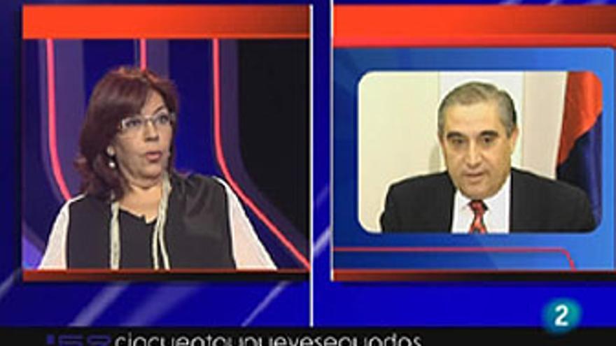 Manuela Armas da su opinión sobre Dimas Martín, este martes en '59 segundos' de TVE-C. (La 2 DE TVE)
