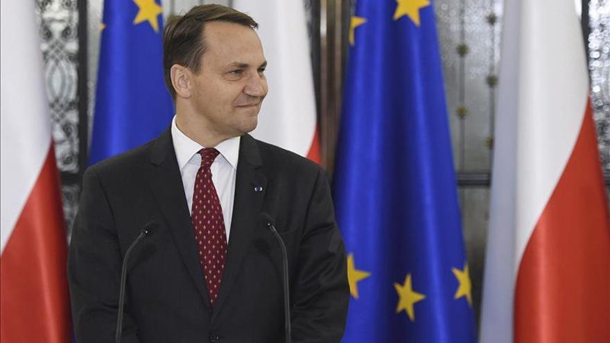 El presidente del Parlamento polaco, Radoslaw Sikorski