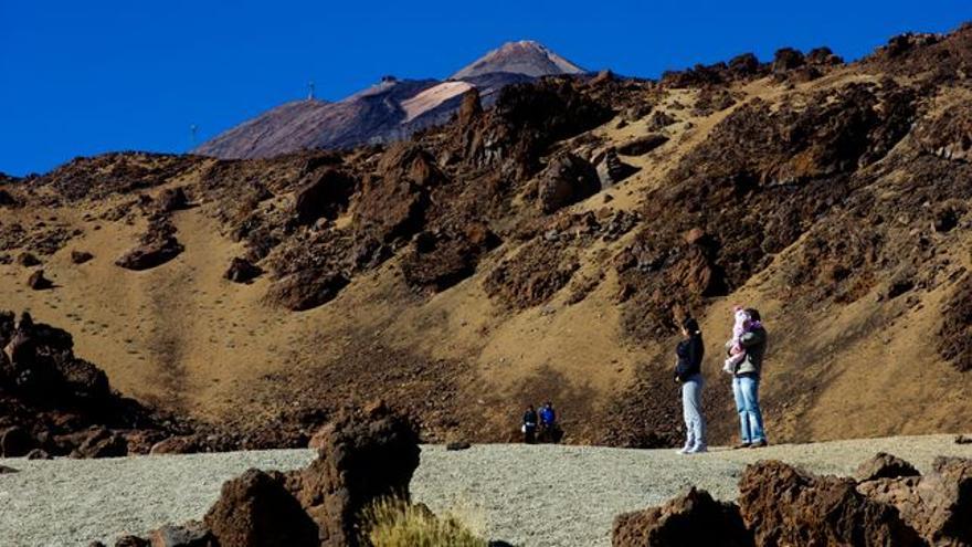 Vista del cono terminal del Teide