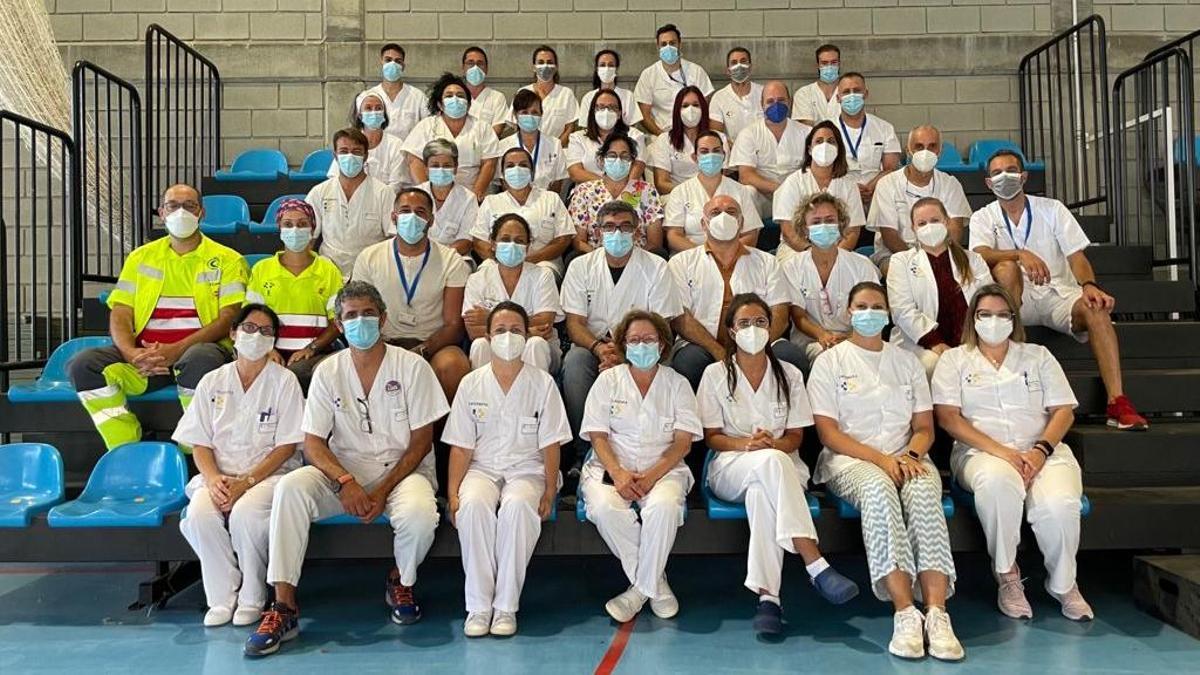 Equipo de vacunación del Área de Salud de La Palma.