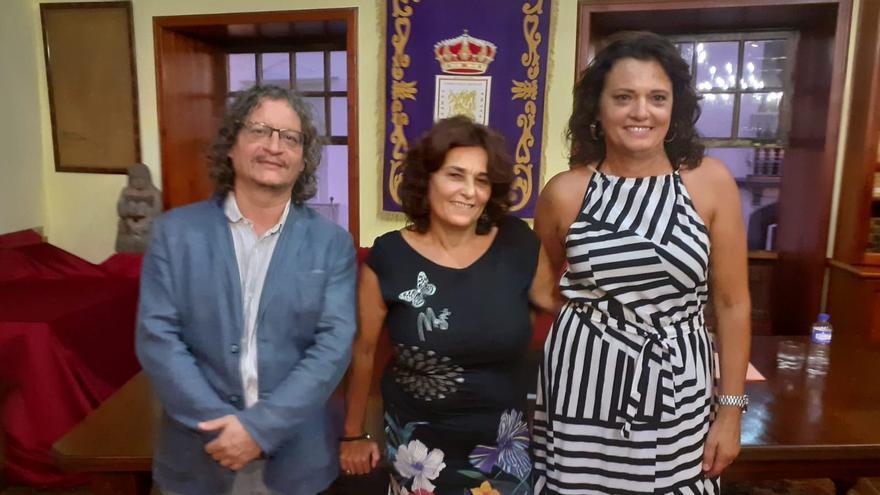 Ignacio Pastor, Nieves Rodríguez y Carmen Martín.