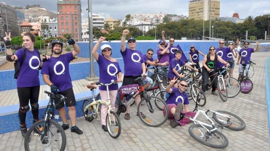 Bicicletada de Podemos por Las Palmas de Gran Canaria.