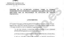 El informe de los letrados del Congreso avala la suspensión de los diputados presos