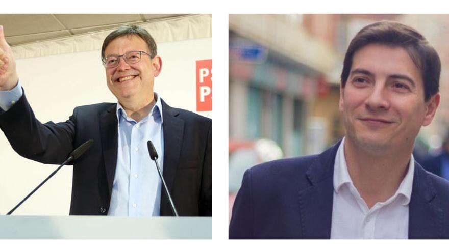 El president Ximo Puig y el alcalde de Burjassot, Rafa García, candidatos a liderar el PSPV