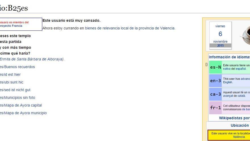 Este valenciano es el segundo usuarios que más contenidos ha creado en español