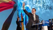 Rajoy, este domingo en la clausura de la Convención Nacional del PP en Sevilla.