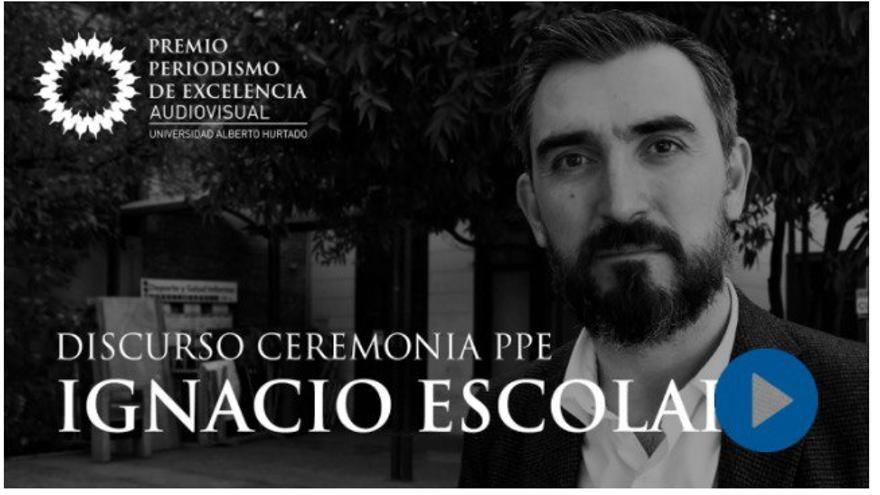 Ignacio Escolar, invitado internacional en la entrega del Premio de Excelencia de periodismo en Chile.