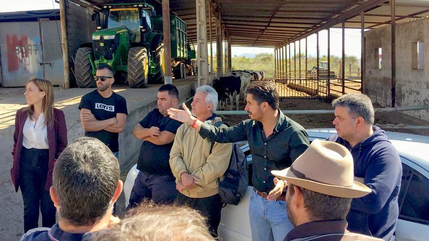 Reunión en la explotación de bovino de leche de Los Baldíos, municipio de La Laguna