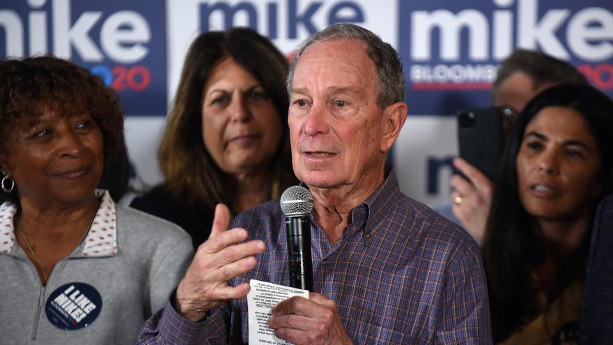 Mike Bloomberg durante un acto de campaña en Orlando (Florida) el supermartes.
