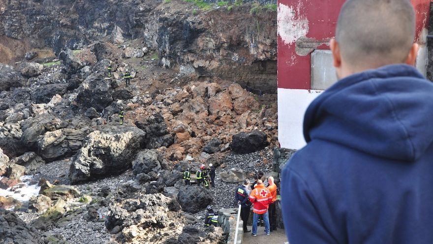 Derrumbe en La Isleta