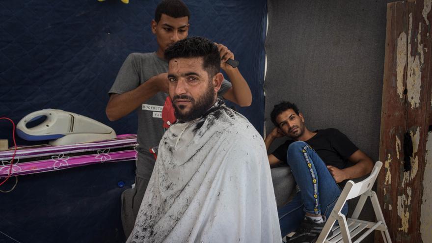 Una de las peluquerías que han aflorado en el campo