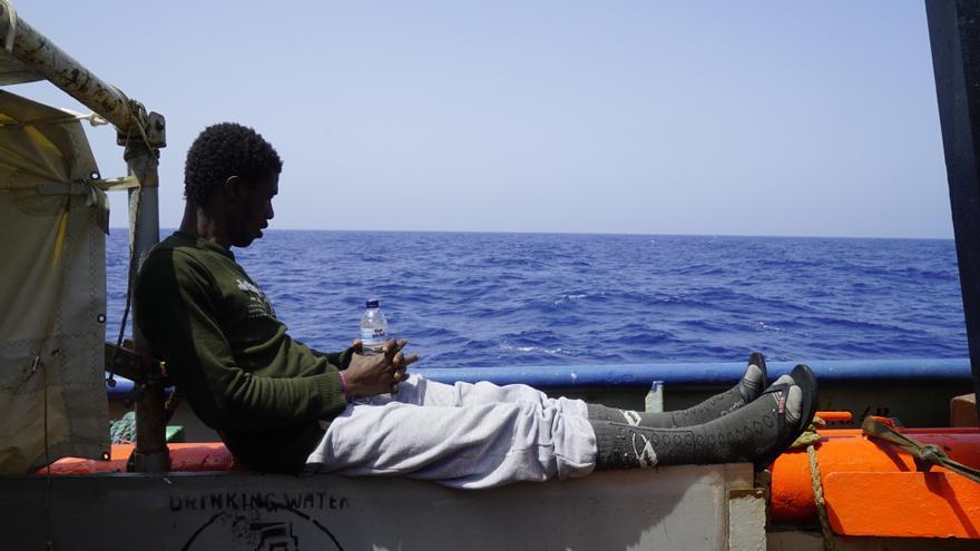 Uno de los migrantes rescatados el pasado 12 de junio por la ONG Sea Watch.