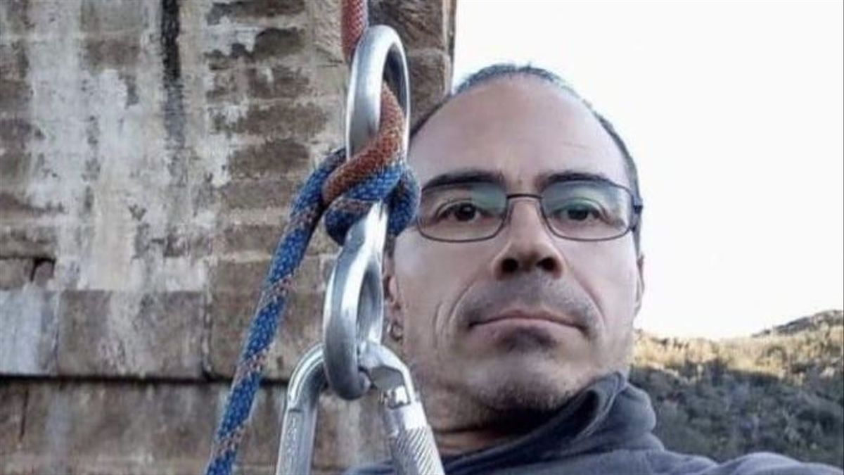 Enrique Domínguez, vecino de Plasencia, era un aficionado a la escalada