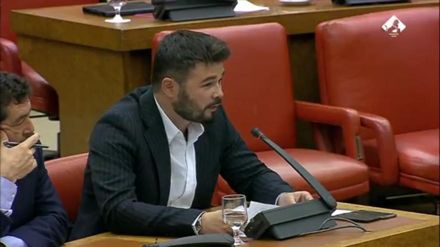Rufián en la Comisión de Interior