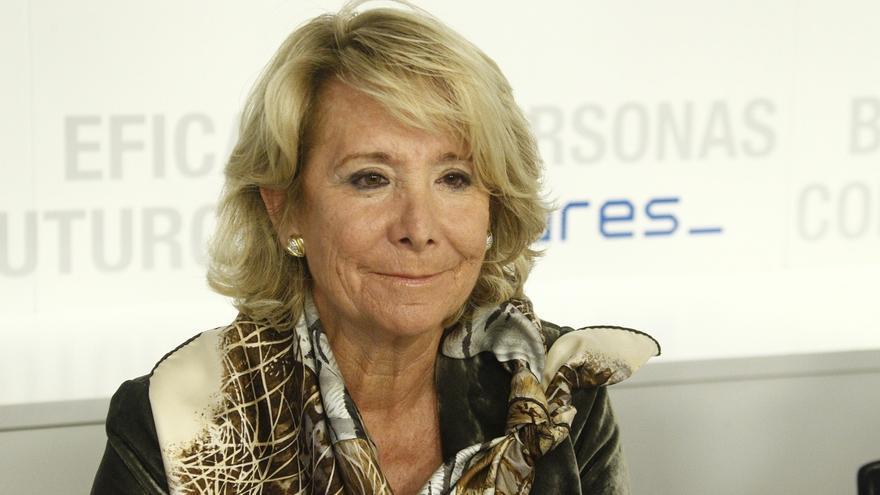 Aguirre 'examinará' este miércoles ante la prensa a la posible candidata a la Alcaldía de Collado Villalba (Madrid)