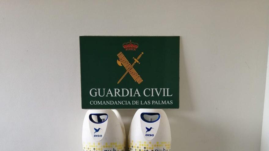 Detenidos dos hombres en Fuerteventura por el robo y venta de bombonas de gas