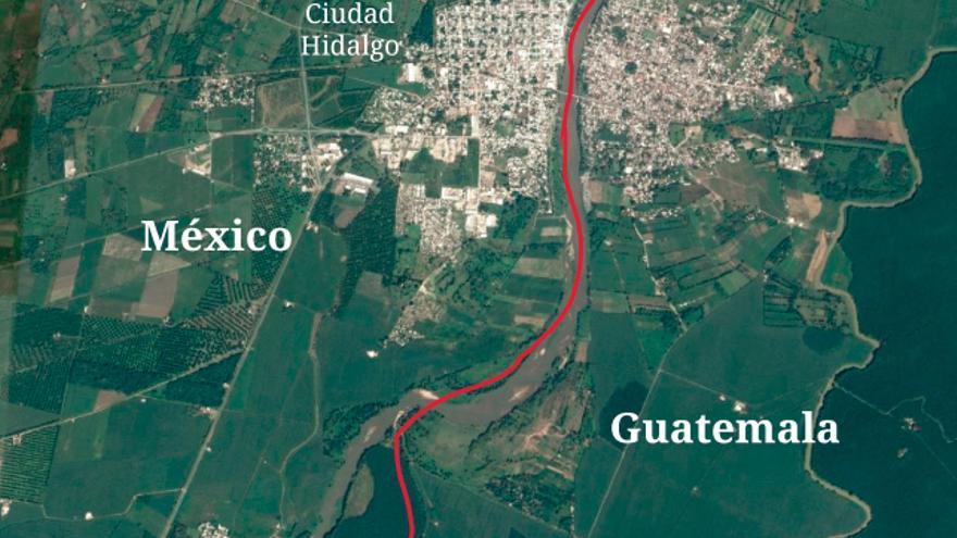 El bulo del muro de m xico en guatemala que usa fotos de for Muralla entre mexico y guatemala