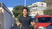 Luis Milla, jugador del CD Tenerife, que este sábado ha salido a la calle a correr.