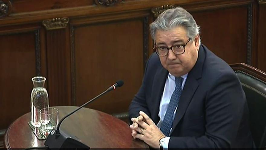 El exministro Zoido declara ante el Tribunal Supremo en el juicio del procés.