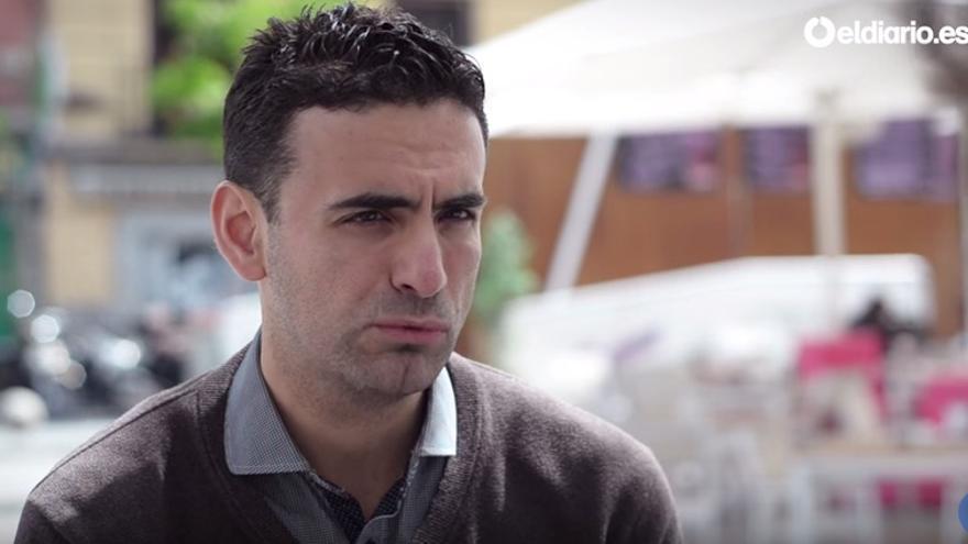 Miguel Ángel Hurtado, víctima de un cura pederasta.