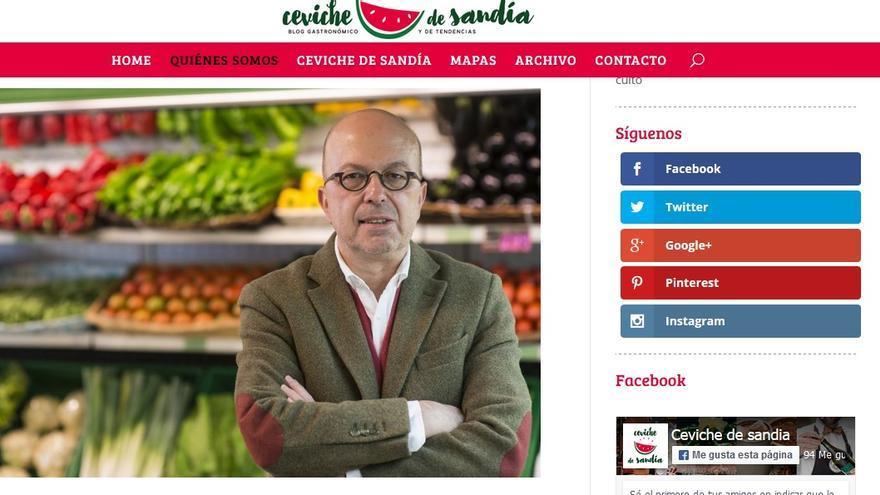 Captura de pantalla del blog 'Ceviche de Sandía'
