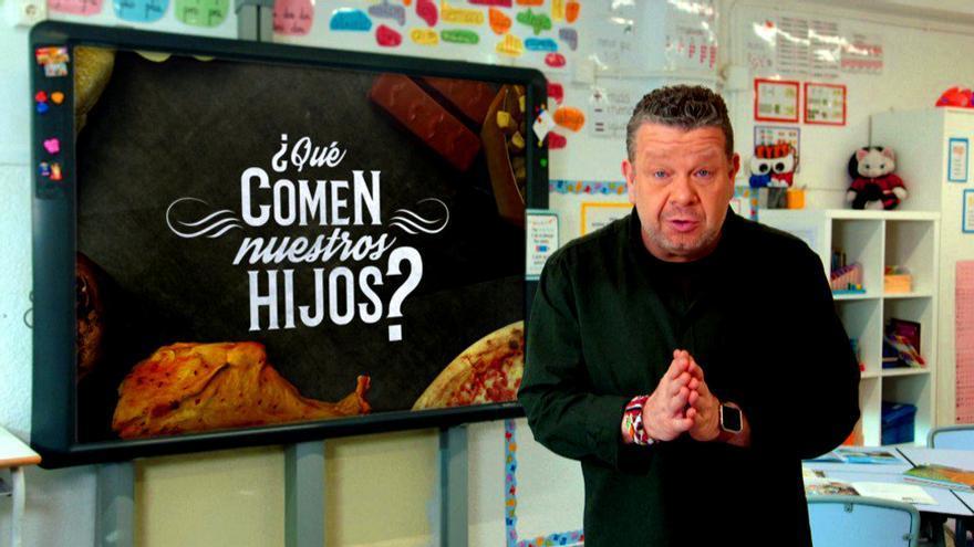 """Alberto Chicote presenta su especial """"¿Qué comen nuestros hijos?"""""""
