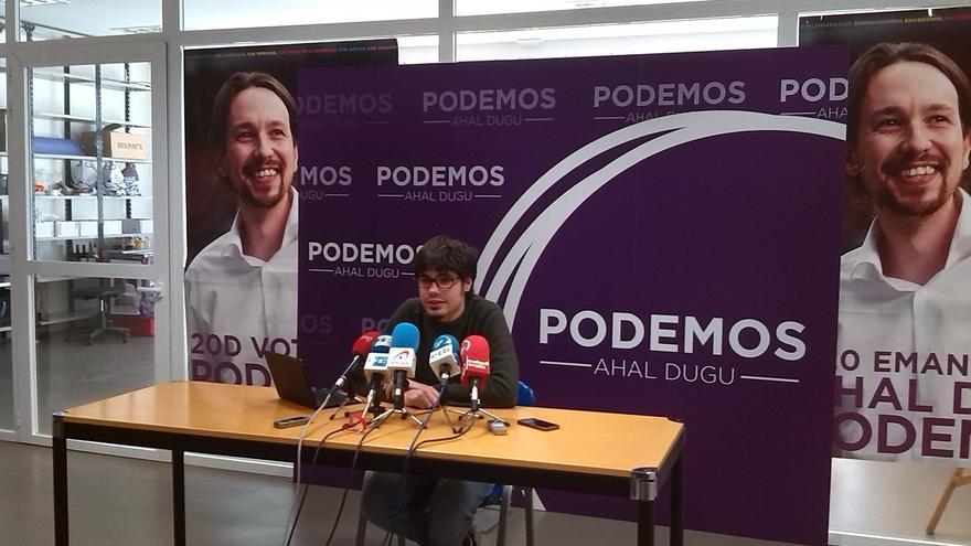 """Podemos pretende """"llegar al Gobierno vasco"""" y ve posible acordar políticas con EH Bildu y PSE, si le trata """"con respeto"""""""