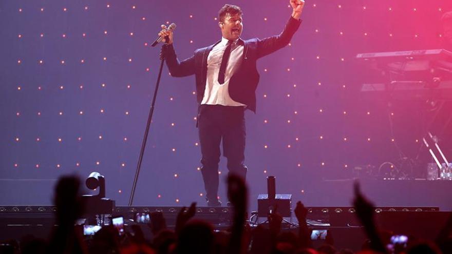 Ricky Martin hace rugir al público del Palacio de Vistalegre al ritmo latino