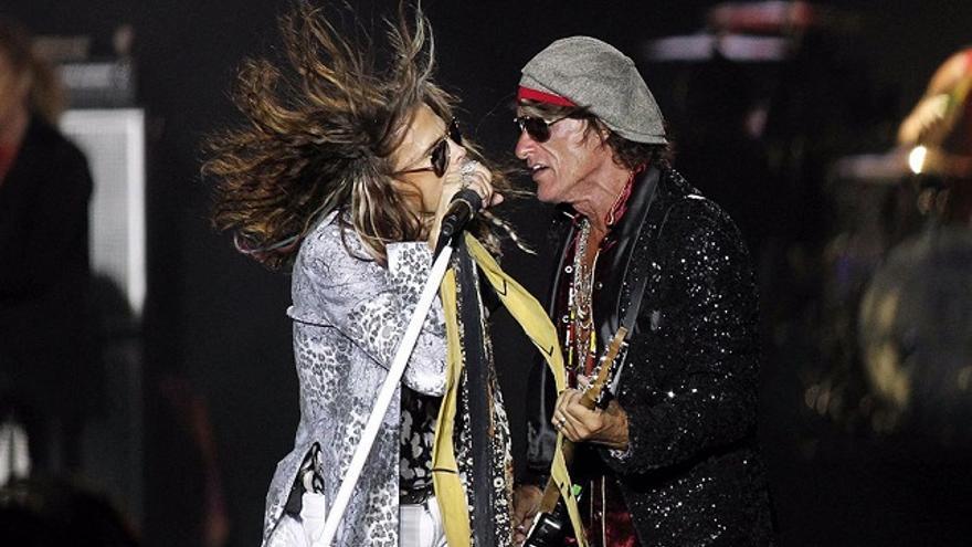 Aerosmith, a su paso por Canarias este año 2017.(EFE).