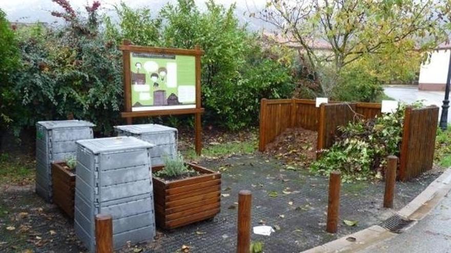 Imagen de una planta de compostaje comunitario en Álava.