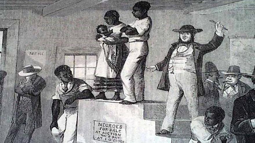 Imagen difundida en redes sociales que intenta relacionar el Black Friday con la venta de esclavos negros