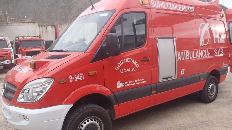 Cedida una ambulancia al parque de bomberos voluntarios de Goizueta