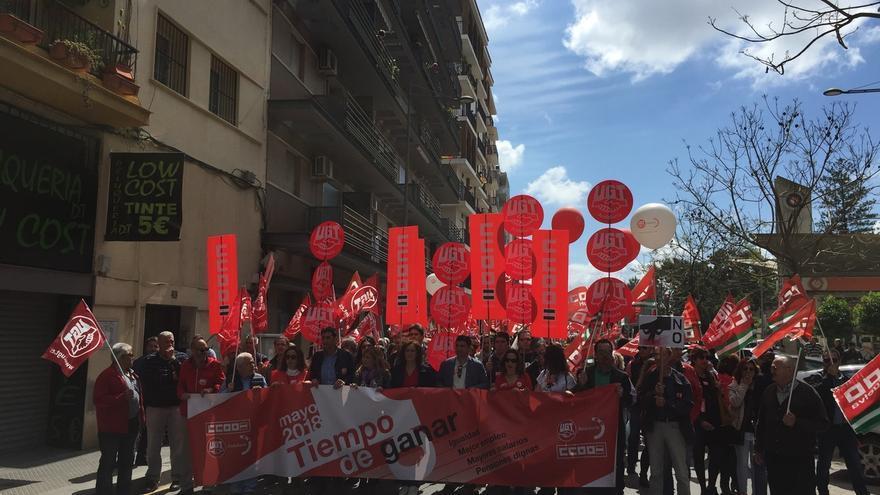 CCOO-A y UGT-A conmemoran este miércoles el 1 de mayo con movilizaciones en las ocho provincias, la central en Sevilla