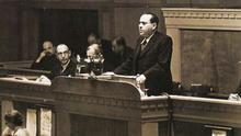 Discurso de Juan Negrín en 1937 en la Sociedad de Naciones.
