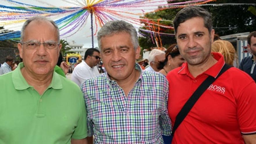 Curbelo, Piñero y Ramos este domingo en Arure | Foto: GomeraVerde.com