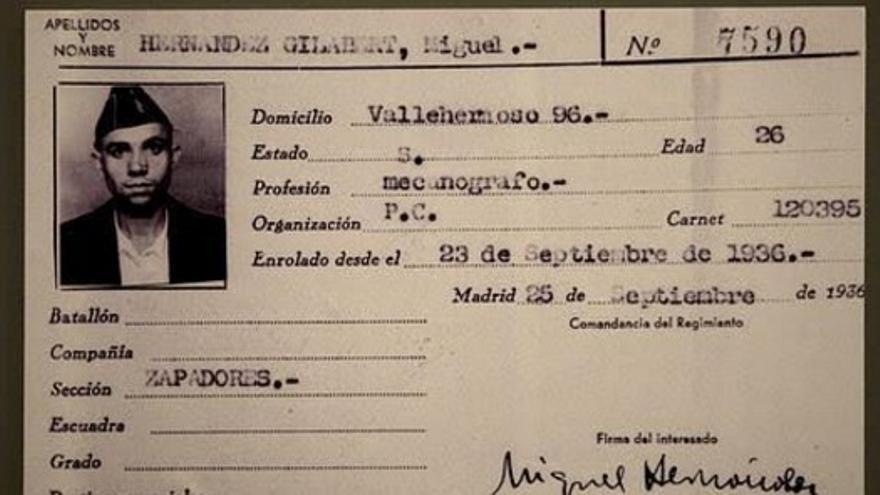 Identificación de Miguel Hernández