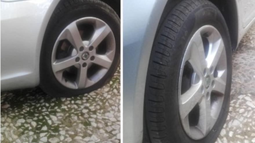 Imagen del ataque al coche