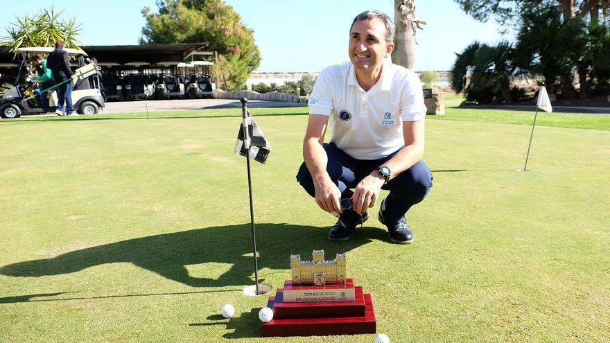 César Sánchez, durante el Trofeo de Golf Diputación de Alicante