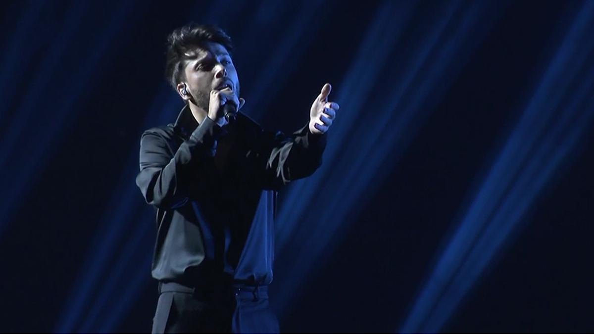 Blas Cantó en su primer ensayo para Eurovisión 2021