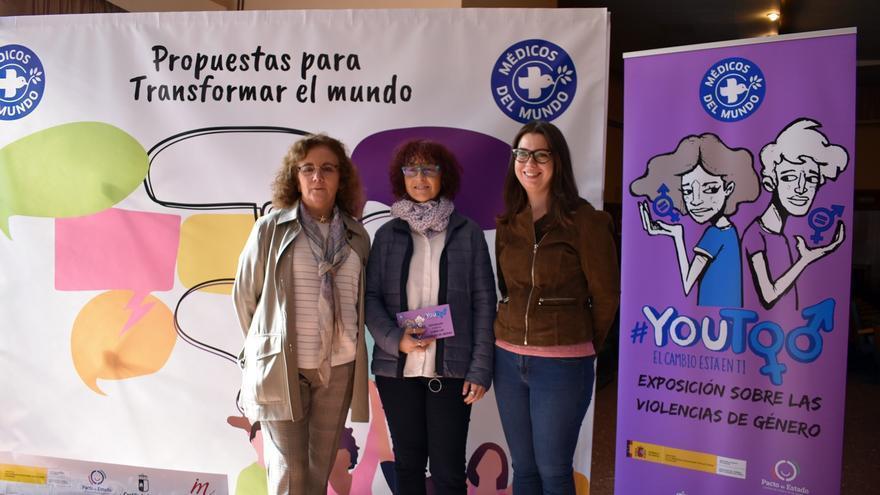De izquierda a derecha: Luisa Cano, Idoia Ugarte y Nuria Cogolludo